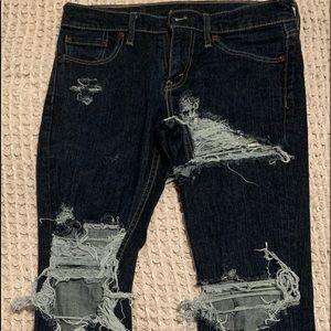 Levi's 511 (Skinny) Distressed Stretch Jeans